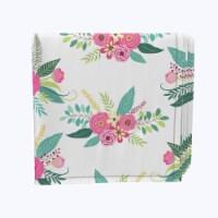 "Napkin Set, 100% Polyester, Set of 12, 18x18"", Rustic Floral Arrangement - 12 Units, 1 Product"