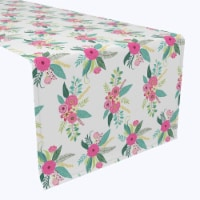 """Table Runner, 100% Polyester, 14x108"""", Rustic Floral Arrangement - 1 Product"""
