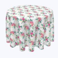 """Round Tablecloth, 100% Polyester, 70"""" Round, Rustic Floral Arrangement"""