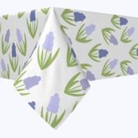 "Rectangular Tablecloth, 100% Polyester, 60x120"", Simple Hyacinths"