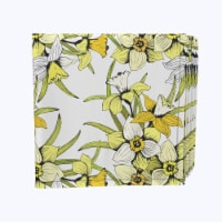 """Napkin Set, 100% Polyester, Set of 12, 18x18"""", Summer Daffodil Dil - 12 Units, 1 Product"""