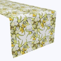 """Table Runner, 100% Polyester, 12x72"""", Summer Daffodil Dil - 1 Product"""