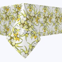"""Square Tablecloth, 100% Polyester, 90x90"""", Summer Daffodil Dil - 1 Product"""