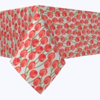 """Square Tablecloth, 100% Polyester, 60x60"""", Summer Tulip Time - 1 Product"""