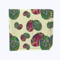 """Napkin Set, 100% Polyester, Set of 12, 18x18"""", Trippy Doodle Easter Eggs - 12 Units, 1 Product"""