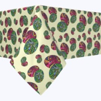 """Rectangular Tablecloth, 100% Polyester, 60x120"""", Trippy Doodle Easter Eggs - 1 Product"""