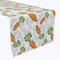 """Table Runner, 100% Polyester, 14x108"""", What Up Doc Carrots - 1 Product"""