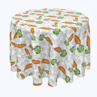 """Round Tablecloth, 100% Polyester, 84"""" Round, What Up Doc Carrots - 1 Product"""