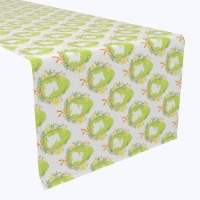 "Table Runner, 100% Polyester, 14x108"", Wreath of Spring Joy"