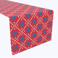 """Table Runner, 100% Polyester, 14x108"""", Abstracta Stars of July"""