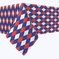 "Rectangular Tablecloth, 100% Polyester, 60x84"", Americana Argyle"