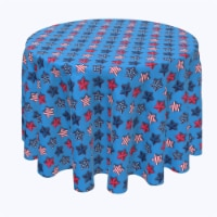 """Round Tablecloth, 100% Polyester, 60"""" Round, Cookie Cutter USA Stars - 1 Product"""