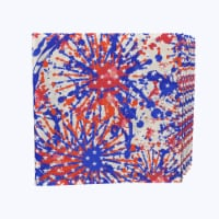 "Napkin Set, 100% Polyester, Set of 12, 18x18"", Painted Firework Fun - 12 Units, 1 Product"