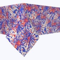 """Square Tablecloth, 100% Polyester, 90x90"""", Painted Firework Fun - 1 Product"""