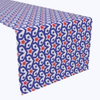 """Table Runner, 100% Polyester, 14x108"""", Stars in Stars Inception"""