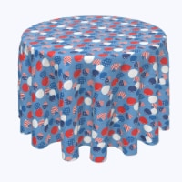 """Round Tablecloth, 100% Polyester, 114"""" Round, Up and Away America Party - 1 Product"""