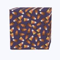 "Napkin Set, 100% Polyester, Set of 12, 18x18"", 3D Candy Corn"