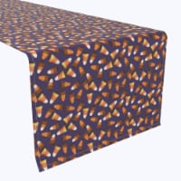 "Table Runner, 100% Polyester, 14x108"", 3D Candy Corn"