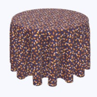 """Round Tablecloth, 100% Polyester, 108"""" Round, 3D Candy Corn - 1 Product"""