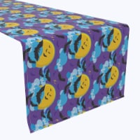 "Table Runner, 100% Polyester, 12x72"", BatMoon Night"