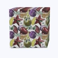 "Napkin Set, 100% Polyester, Set of 12, 18x18"", Beautiful Sketch Christmas Ornaments"