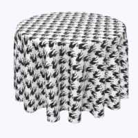"""Round Tablecloth, 100% Polyester, 108"""" Round, Black Scaredy Cats"""