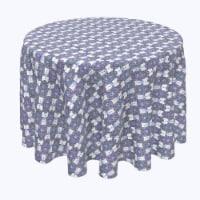 "Round Tablecloth, 100% Polyester, 70"" Round, Boho Décor"