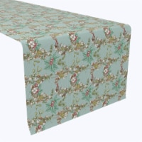 "Table Runner, 100% Polyester, 12x72"", Botanical Sketch Garland"