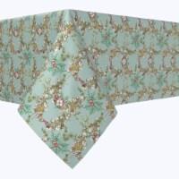 "Rectangular Tablecloth, 100% Polyester, 60x104"", Botanical Sketch Garland"