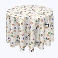 """Round Tablecloth, 100% Polyester, 96"""" Round, Candelabrum Cartoon"""