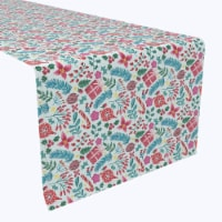 """Table Runner, 100% Polyester, 14x108"""", Christmas Candy Cane Celebration"""