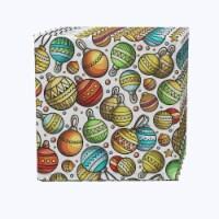 "Napkin Set, 100% Polyester, Set of 12, 18x18"", Christmas Cartoon Celebration"