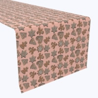 """Table Runner, 100% Polyester, 14x108"""", Christmas Gingerbread Cookies"""