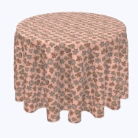 """Round Tablecloth, 100% Polyester, 120"""" Round, Christmas Gingerbread Cookies"""