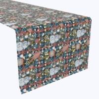 """Table Runner, 100% Polyester, 14x108"""", Christmas Weave Love"""