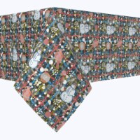 """Rectangular Tablecloth, 100% Polyester, 60x84"""", Christmas Weave Love"""