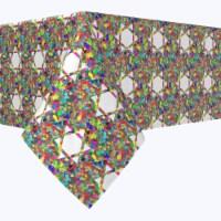 "Rectangular Tablecloth, 100% Polyester, 60x120"", Colorful Hexagonal Icon"