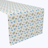 "Table Runner, 100% Polyester, 12x72"", Cute Menorahs and Stars"