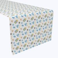 "Table Runner, 100% Polyester, 14x108"", Cute Menorahs and Stars"
