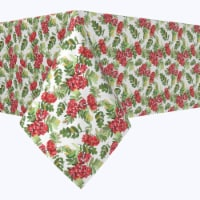 """Square Tablecloth, 100% Polyester, 54x54"""", Decorative Red Berries"""