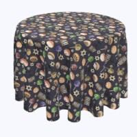 """Round Tablecloth, 100% Polyester, 60"""" Round, Dreidel Delightfulness"""