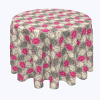 """Round Tablecloth, 100% Polyester, 60"""" Round, Dreidel Wrapping Wallpaper"""