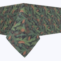 """Rectangular Tablecloth, 100% Polyester, 60x120"""", Fir Branches and Green Pines"""