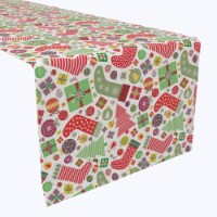 "Table Runner, 100% Polyester, 14x108"", Fun Stockings and Essentials"