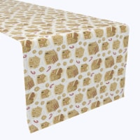 """Table Runner, 100% Polyester, 14x108"""", Gingerbread Cookie Houses"""