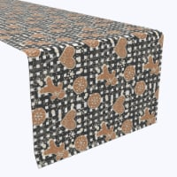 """Table Runner, 100% Polyester, 14x108"""", Gingerbread Plaid"""