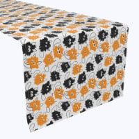 "Table Runner, 100% Polyester, 12x72"", Goofy Funny Cats"