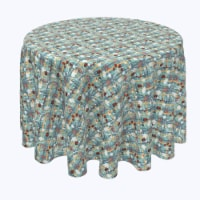 """Round Tablecloth, 100% Polyester, 120"""" Round, Green Beautiful Berry Weave - 1 Product"""