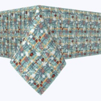 """Square Tablecloth, 100% Polyester, 60x60"""", Green Beautiful Berry Weave - 1 Product"""