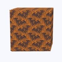 "Napkin Set, 100% Polyester, Set of 12, 18x18"", Halloween Bat Lace"